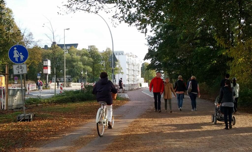 Radweg Schwanenwik gen Süden