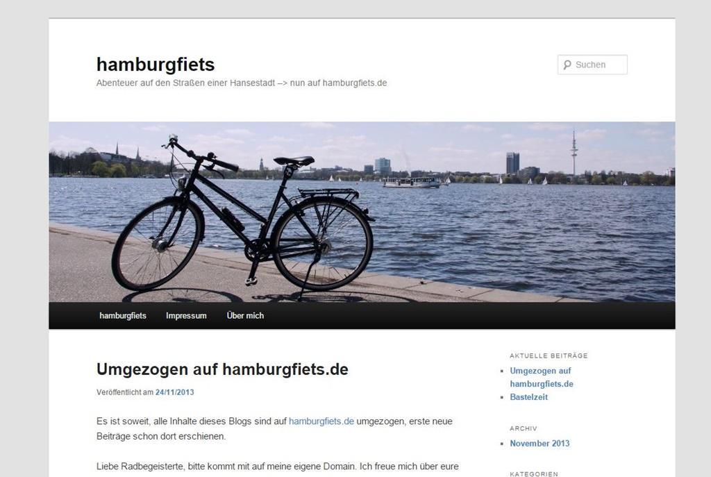 hamburgfiets - der Anfang