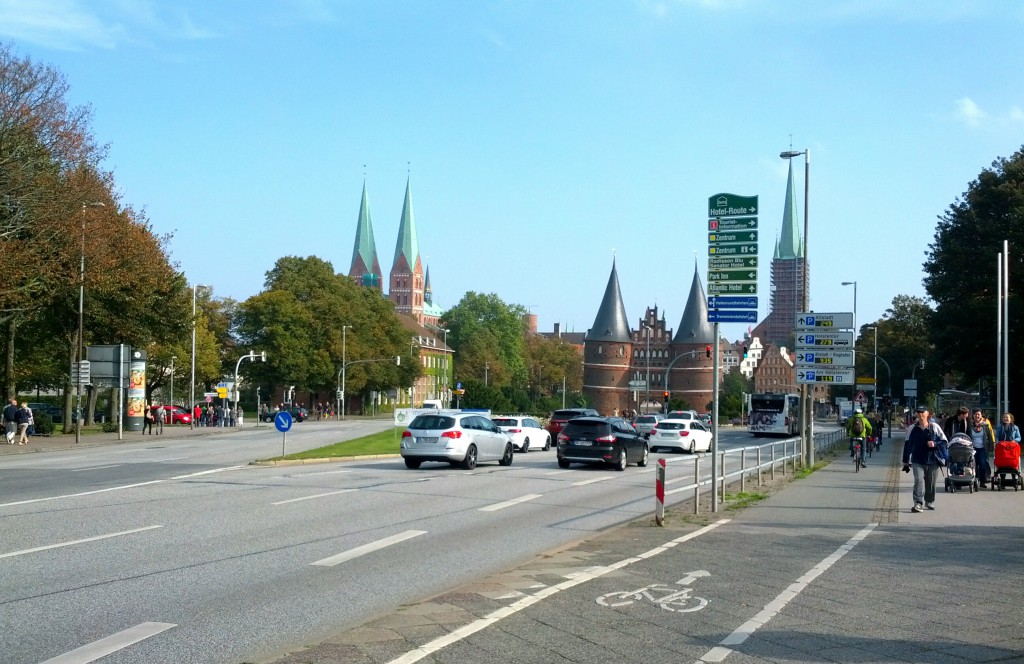 Am Ziel - Holstentor in Lübeck