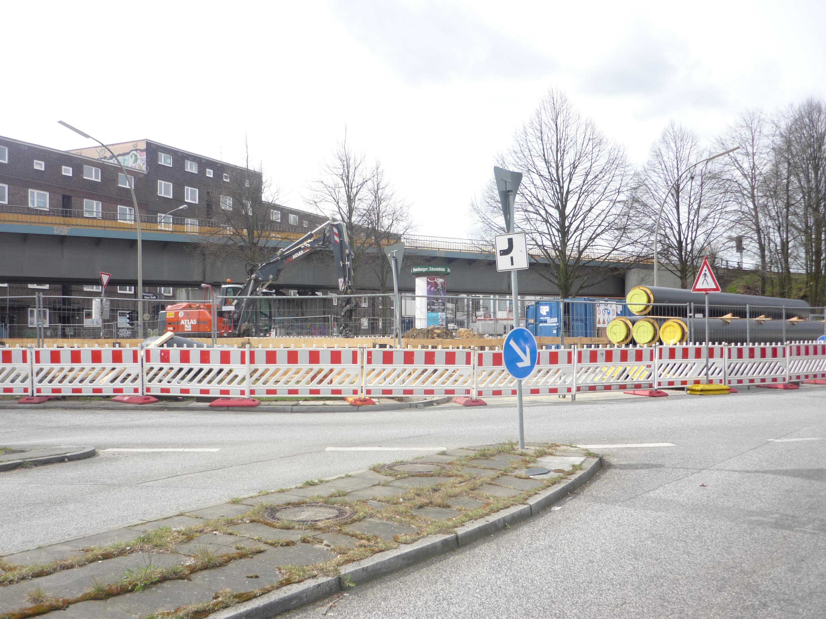 Baustelle an der Stresemannstraße - Mathilde mag sie nicht