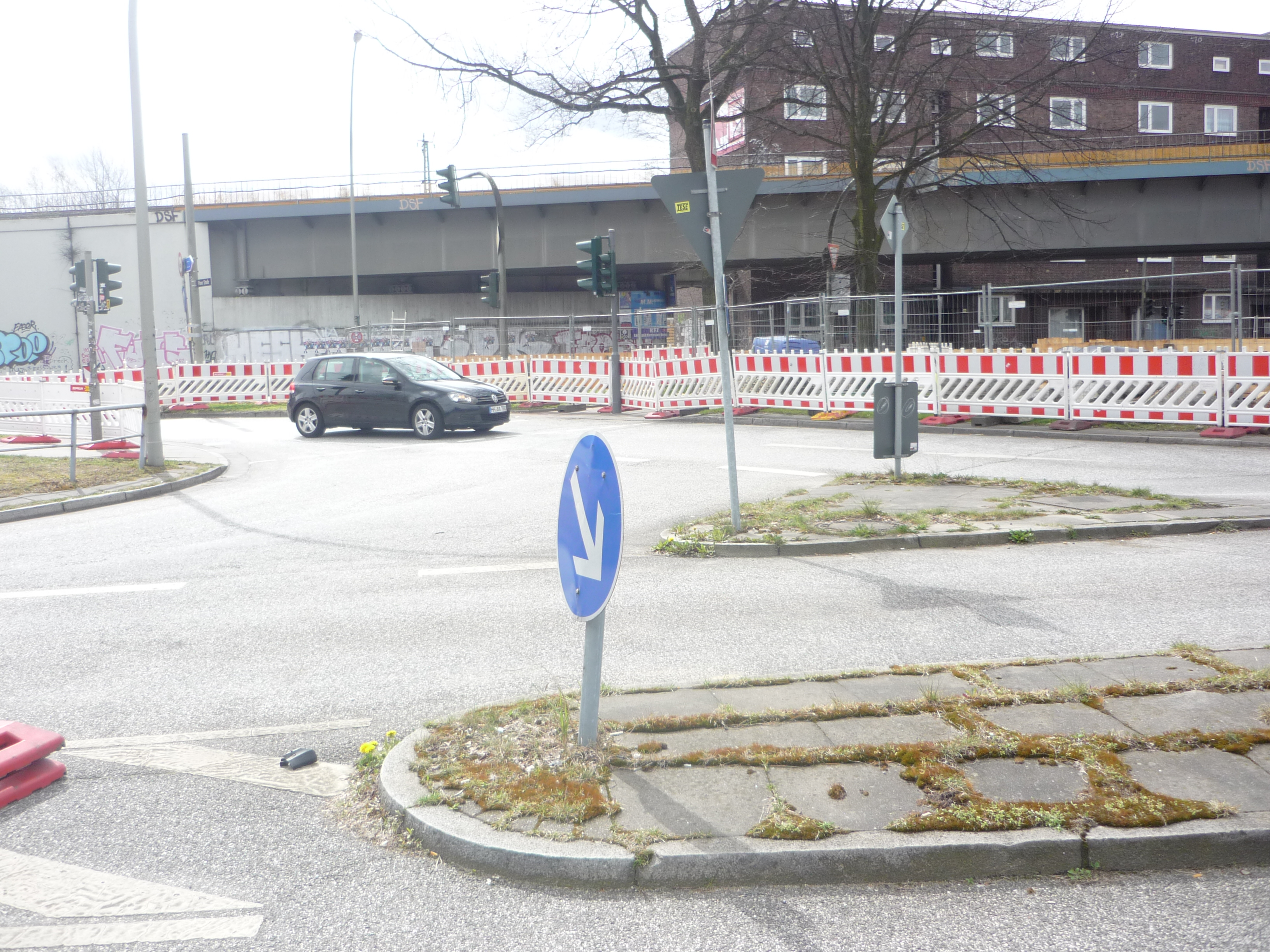Die Zufahrt zur Plöner Straße