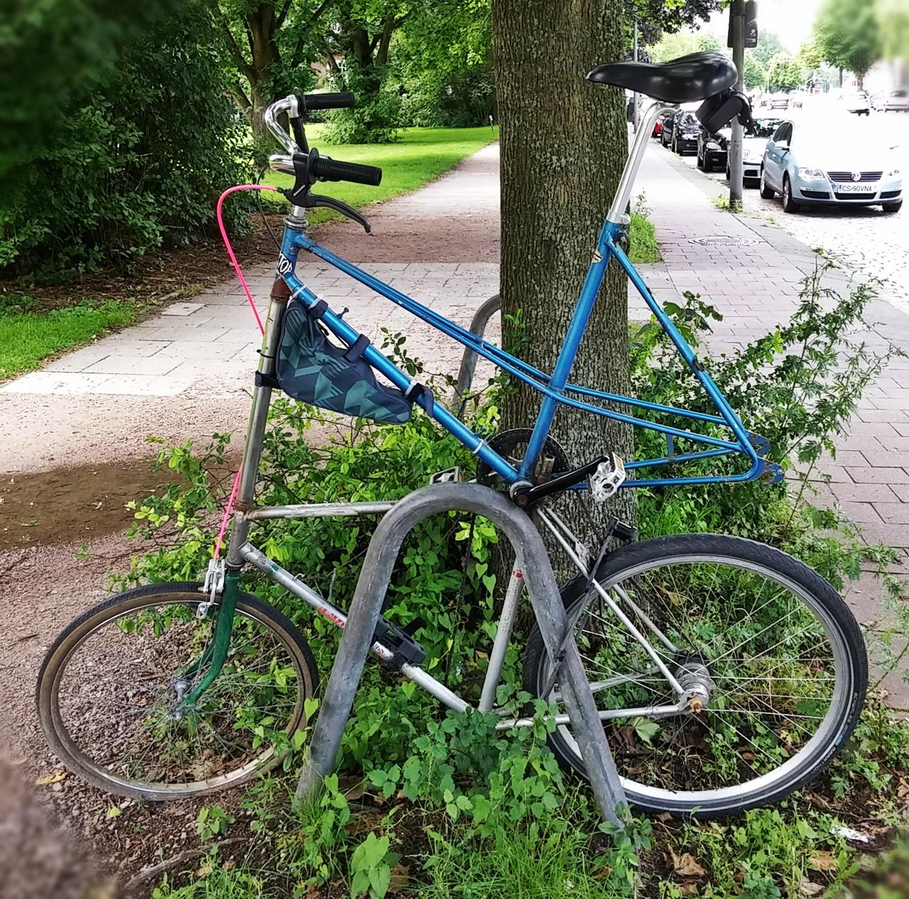 Tallbike mit interessanter Rahmenkombination
