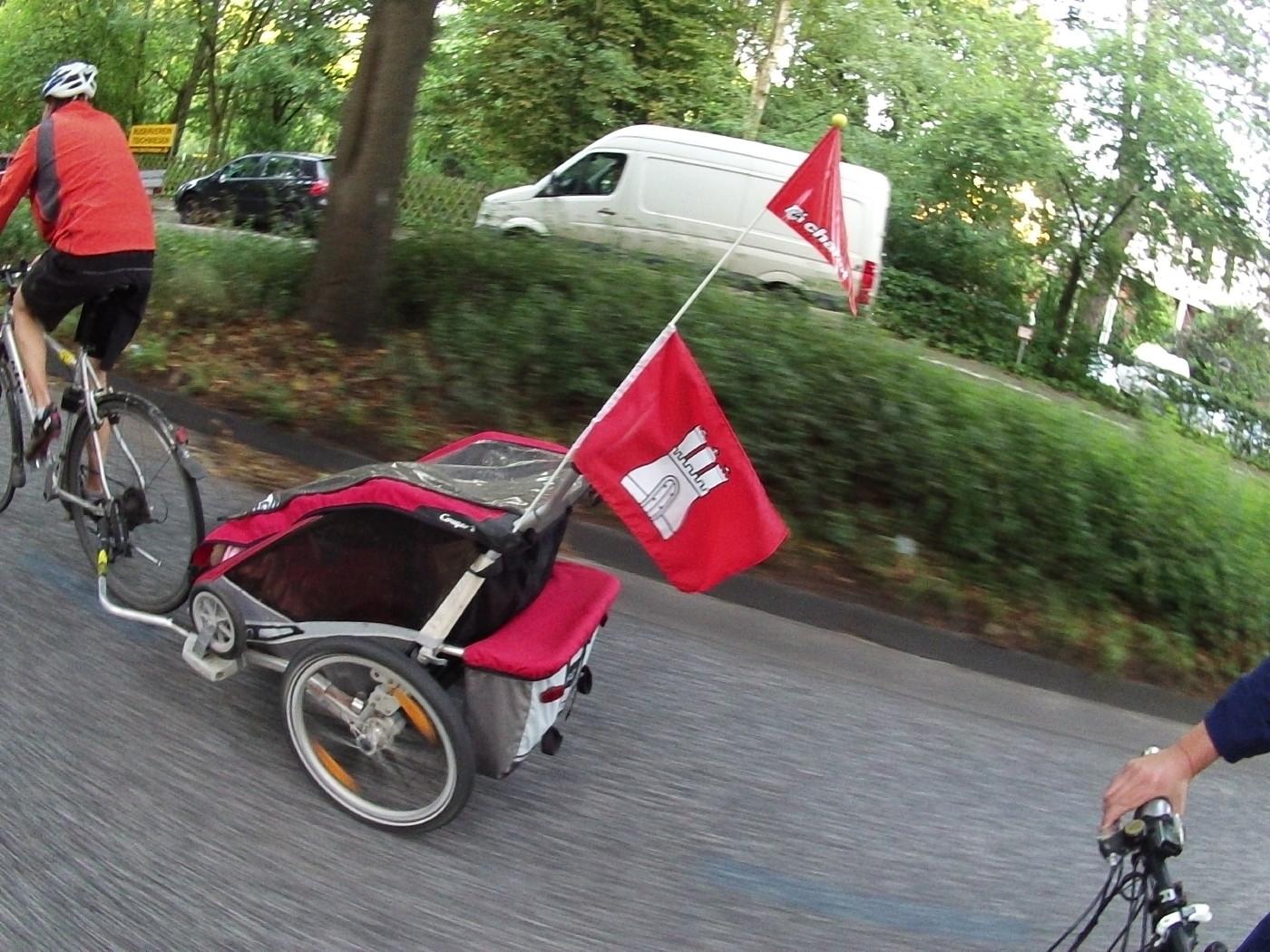 Hamburganhänger fürs Kind