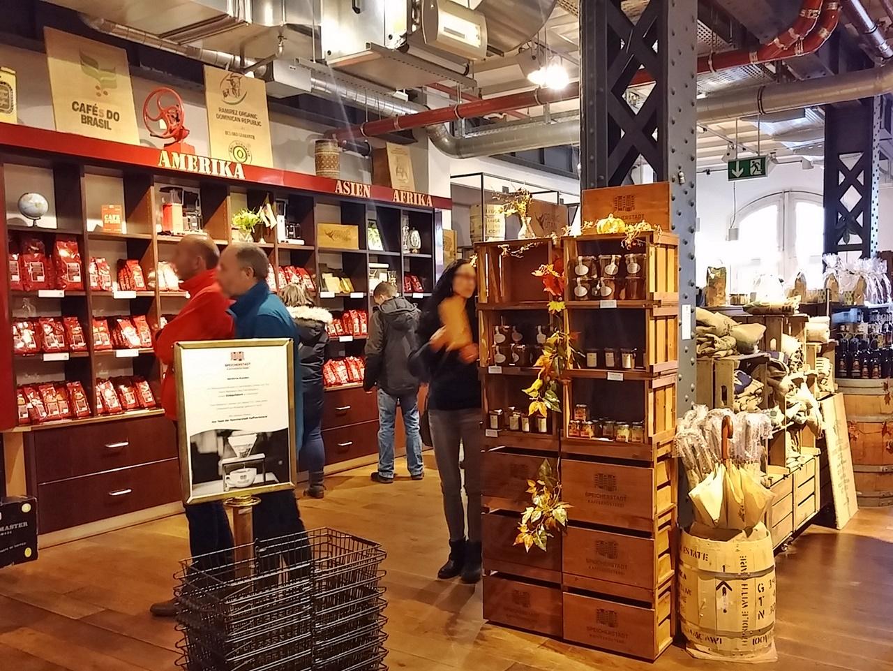 Fabrikverkauf in der Kaffeerösterei