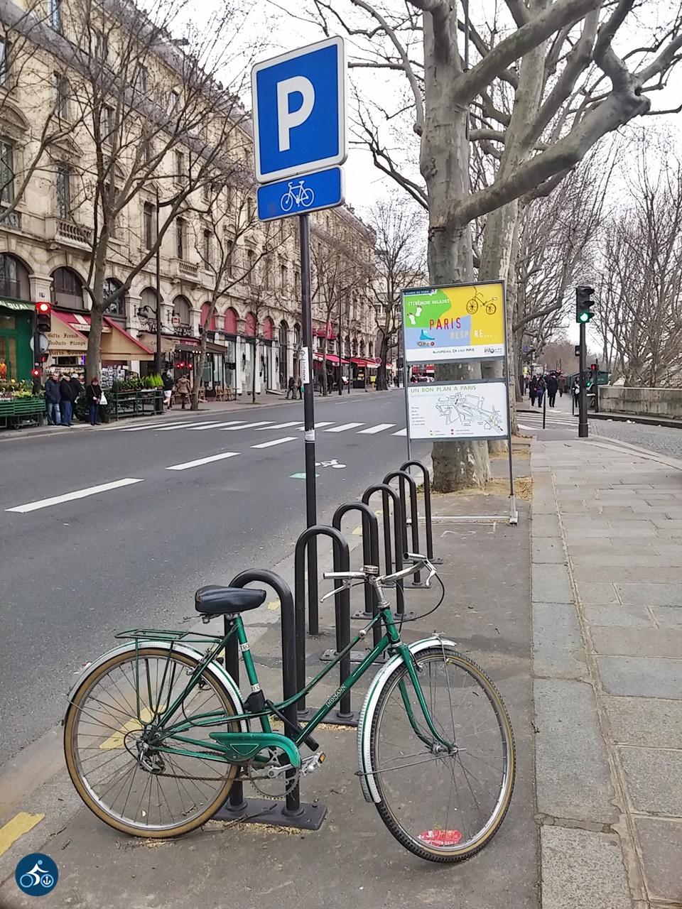 Fahrradparken am Quai de l'Hôtel de Ville