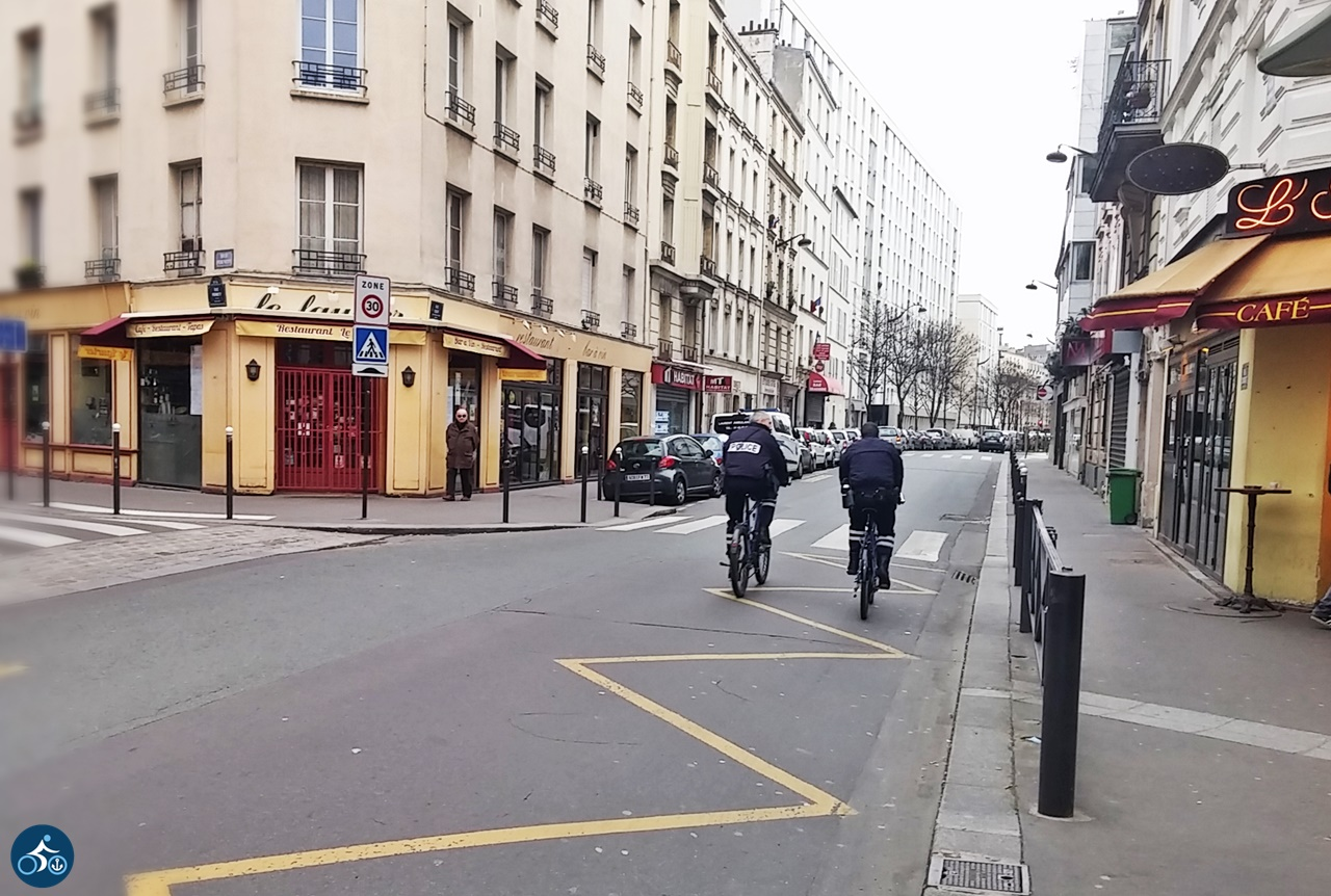 Radpolizisten in Paris