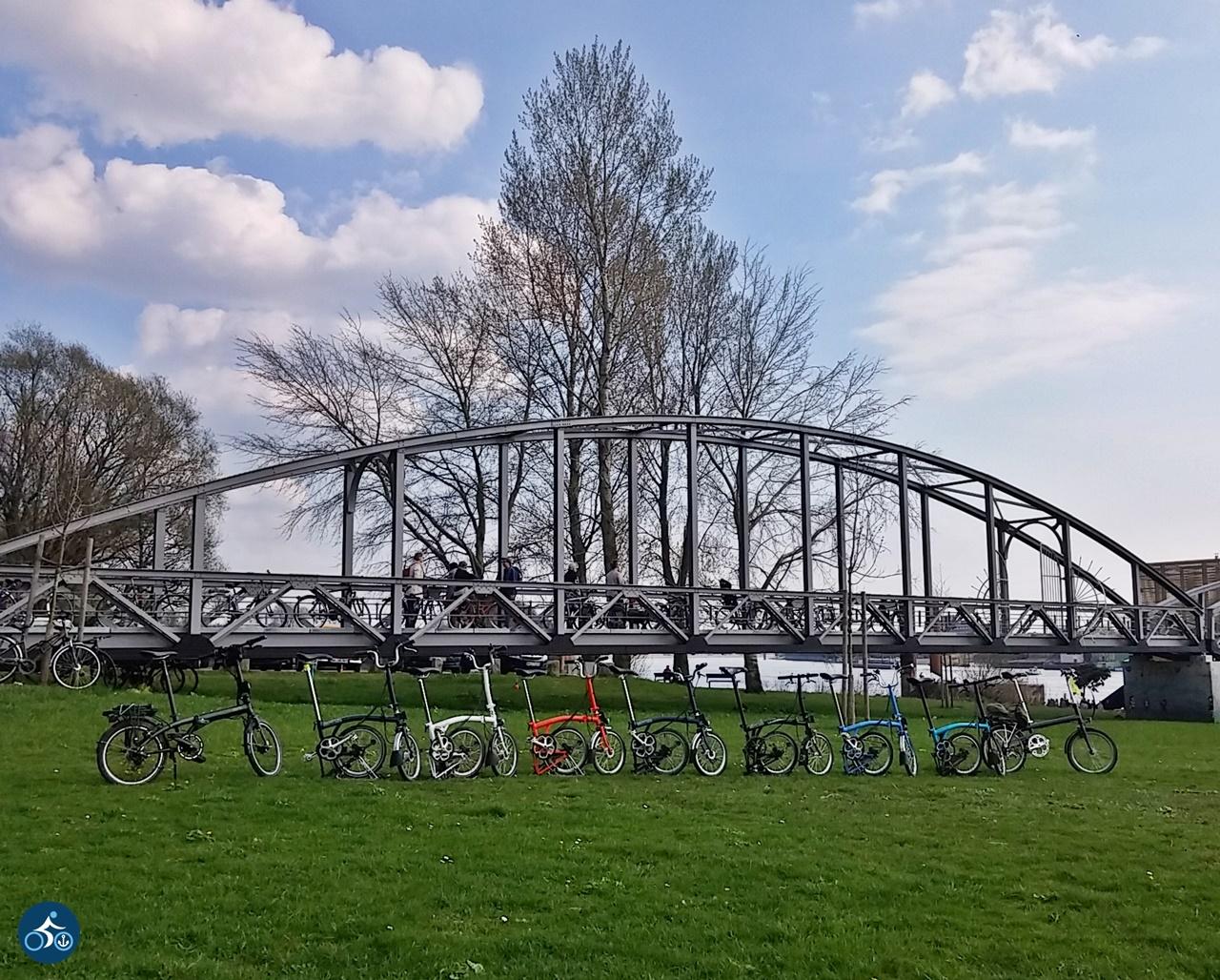 10 Falter vor der Brücke zum Café Entenwerder