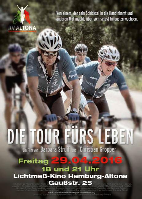 """""""Die Tour fürs Leben"""" - der RV Altona zeigt den Film am 29.4.2016 im Lichtmeß-Kino Altona"""