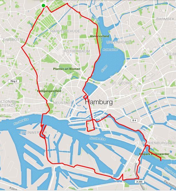 Unsere 27,3 km lange Strecke