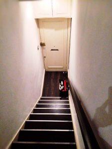 Genau die richtige Größe für die steile Treppe - pic by Conny