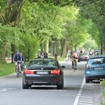 Auto frei = Radfahrer haben Vorrang
